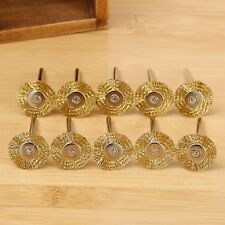 22MM Brass Wire Wheel Brushes Polishing Tool for Die Grinder Dremel Rotary 10PCS