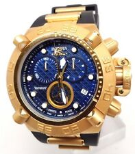 Mens Invicta 16145  Subaqua Swiss Chronograph Gold Blue Dial Swiss Watch