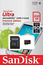 SanDisk 200GB 200 GB MicroSD SDXC Class 10 Mobile Ultra 90mb/s SDSDQUAN-200G
