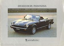 PININFARINA - Spidereuropa brochure/prospekt Spanish/French/English/Deutsch 1984