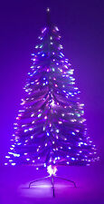 6' Ft White Artificial Holiday Christmas Tree w/ Fiber Optic Multi-Colored Light