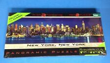 New York Puzzle Glow In The Dark Panoramic 750 Piece NIB