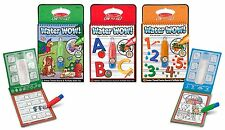 Melissa & Doug 3 Pc Bundle of Water Wow! Alphabet, Numbers & Animals!