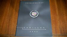 2002 CADILLAC  ESCALADE EXT  FRENCH CANADIAN  BROCHURE