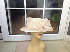 LADIES CREAM WIDE BRIM HAT FOR WEDDINGS/RACES/SPECIAL OCCASIONS/NEW/TAGS RRP£79
