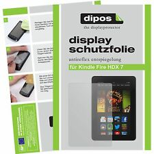 2x Amazon Kindle Fire HDX 7 Schutzfolie matt Displayschutzfolie Folie dipos