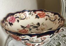 masons ironstone blue mandalay Centrepiece Fruit bowl 26cms Wide