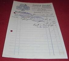 Facture alt ANTIK Banzhaf ravensburg gravier Institut EMAIL panneaux 1917 papier