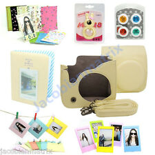 Gmatrix Fujifilm Instax Mini 8 Case Bag Accessory Bundle Set Best Gift Cream