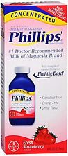 3 Pack - Phillips Concentrated Milk of Magnesia Fresh Strawberry 8 fl oz Each