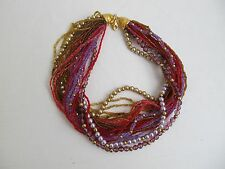 "Joan Rivers Multi Strand Bead Necklace 17"" New"