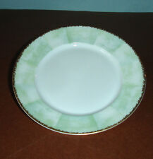 Lalique Limoges Orchidees Bread Butter Appetizer Tidbit Plate Green/Gold $65 New