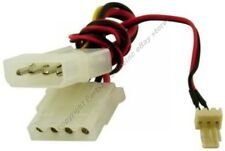 3pin Male ATX~4pin Molex M~F Power Supply Fan/Cooler Cable/Cord/Wire Adapter