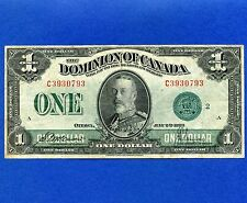 1923 Dominion Of Canada 1 Dollar Bank Note S/N C3930793