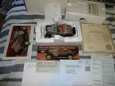 Danbury Mint 1/24 scale 1931  Ford Model A Deluxe Roadster Never displayed