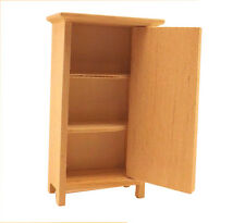 Unfinished Wood Pine Cabinet/Wardrobe (Craft and dollhouse miniature furniture)