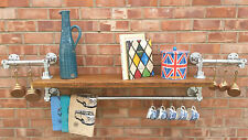LONG Kitchen Reclaimed Wood Galvanised Steel Pipe Industrial Bookcase SHELF