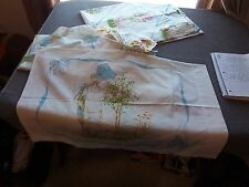 Vintage HOLLY HOBBIE 3 pc Twin Sheet Set Flat Fitted Pillowcase '76 JcPenney