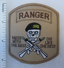 RANGER Mess with the Best SKULL PATCH Made for VETERANS & COLLECTORS