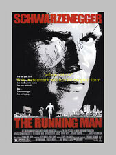 "THE RUNNING MAN PP SIGNED POSTER 12""X8"" ARNIE"