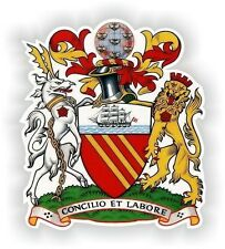"Manchester United Kingdom City Coat Of Arms Crest sticker 3.7x4"" bumper decal"