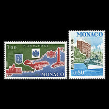 "Monaco 1978 - Environment Protection ""RAMOGE Agreement"" Map Ship - Sc 1111/2 MNH"
