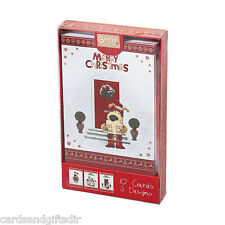 Boofle Pack of 10 Christmas Cards Xmas Greeting Cards