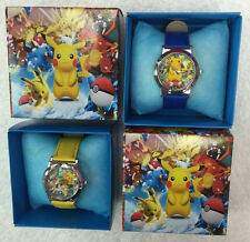 Pokemon Go Pikachu Children Wristwatch Watches With Boxes Birthday Gift
