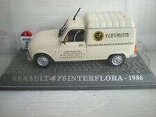 voiture miniature renault 4l f6 fourgon interflora de 1986 collection renault 4l