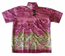 Mens Thai Silk Shirt From Bangkok Thailand - New Design  Around Thailand  L   51