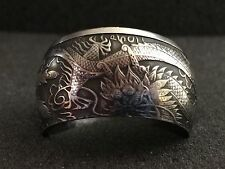 24K Pure Silver Coin Ring |9999 Silver Dragon & Phoenix 2017 | Sizes 5-15
