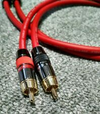 Van Damme - Monster Silver Plated OFC RCA Phono Interconnect Cable Red 0.5m