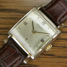 1948 Vintage ZENITH Gents Art Deco Swiss Wrist Watch. MOVEMENT JUST SERVICED