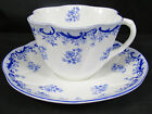 SHELLEY HEAVENLY BLUE PATTERN DAINTY SHAPE TEA CUP AND SAUCER