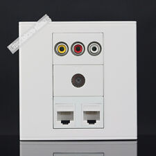 Wall plate 4 Port Socket 2 port CAT5E & One Port TV & AV Port Panel Faceplate