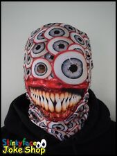 White Eye Scary Horror Full Head Mask Realistic Printed Lycra for Halloween