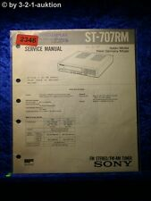 Sony Service Manual ST 707RM Tuner  (#2346)
