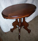 Oval Walnut Parlor Table Center Table (T94)