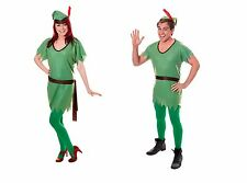 GREEN ELF COSTUME PETER PAN ROBIN HOOD ADULT UNISEX FANCY DRESS CHRISTMAS OUTFIT