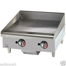 "NEW STAR-MAX 24"" GRIDDLE GRILL MANUAL CONTROLS LP NG GAS 1"" PLATE 624MF"