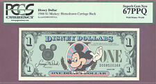 1988 $1 D Disney Dollars MICKEY HORSEDRAWN CARRIAGE PCGS 67 PPQ SUPERB GEM NEW