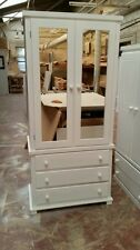 BEDROOM ARIZONA 3 DRAWER, DOUBLE MIRRORED WARDROBE (ASSEMBLED) NO FLAT-PACK!!