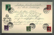 1945 Perleburg Germany Local Issue Cover Obliterated Stamps