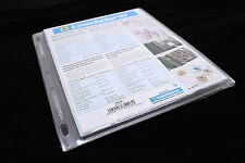 2 Binder Pages for Lighthouse Plastic 2x2 QUADRUM Square Coin Holder Capsules