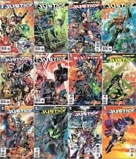JUSTICE LEAGUE (2011) #1-12 SET SIGNED BY JIM LEE & GEOFF JOHNS DC NEW 52 SDCC