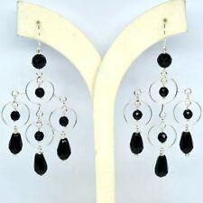 BLACK ONYX 925 SILVER EARRINGS
