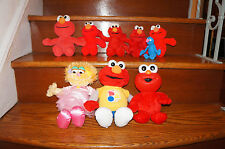 x9 Sesame Street PLUSH LOT Collection ELMO Zo Grover Stuffed Animal Muppets