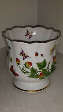 Lenwile Ardalt SPRING TIME Butterflies and Strawberries Vase or Planter