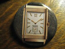 Jaeger LeCoultre White Gold Reverso Watch Advertisement Pocket Lipstick Mirror