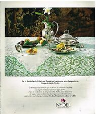 "Publicité Advertising 1977 Linge de Table Nydel nappe ""Imperial"""